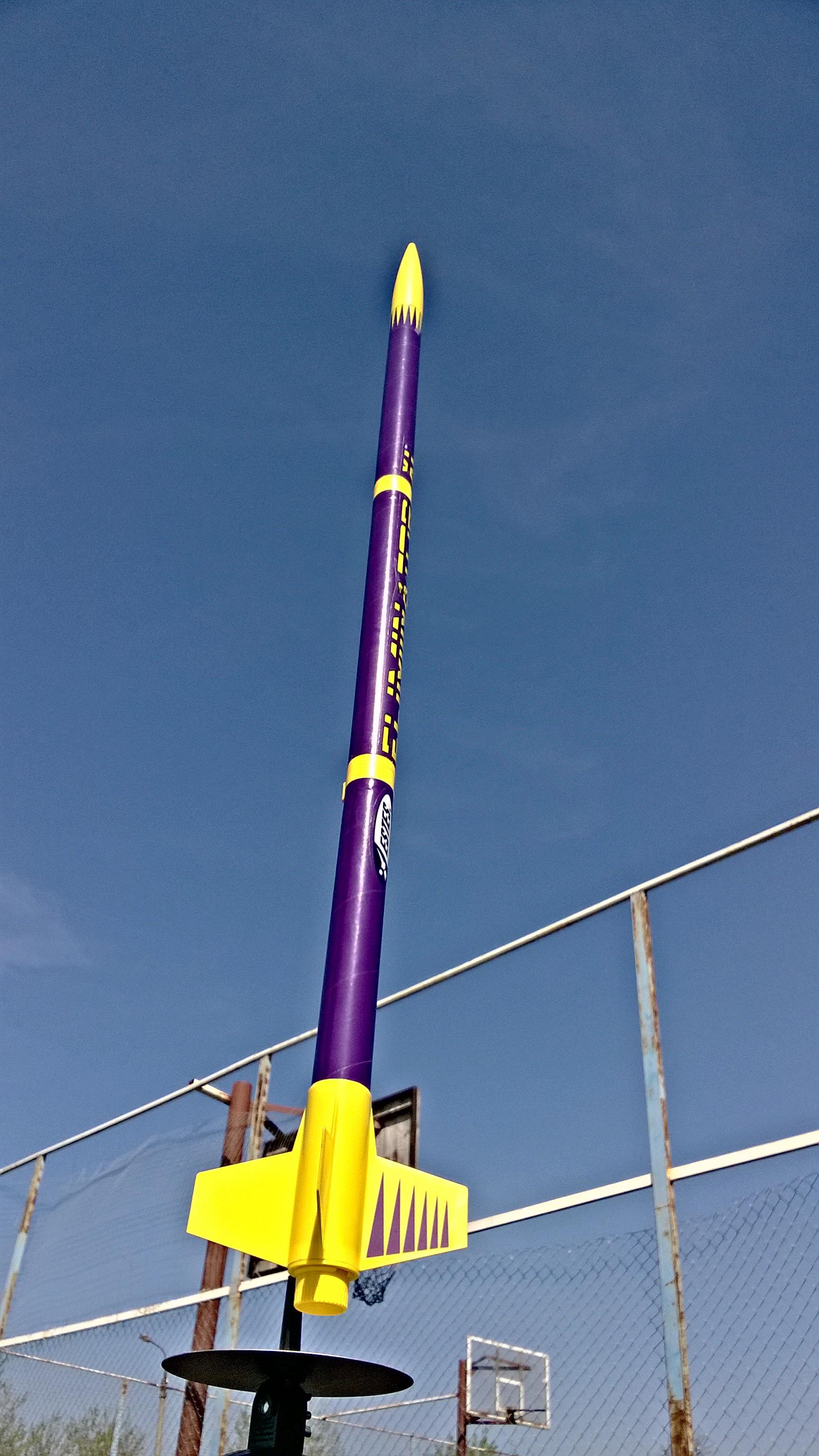 Самая большая ракета, запущенная с нашего школьного космодрома 9 мая