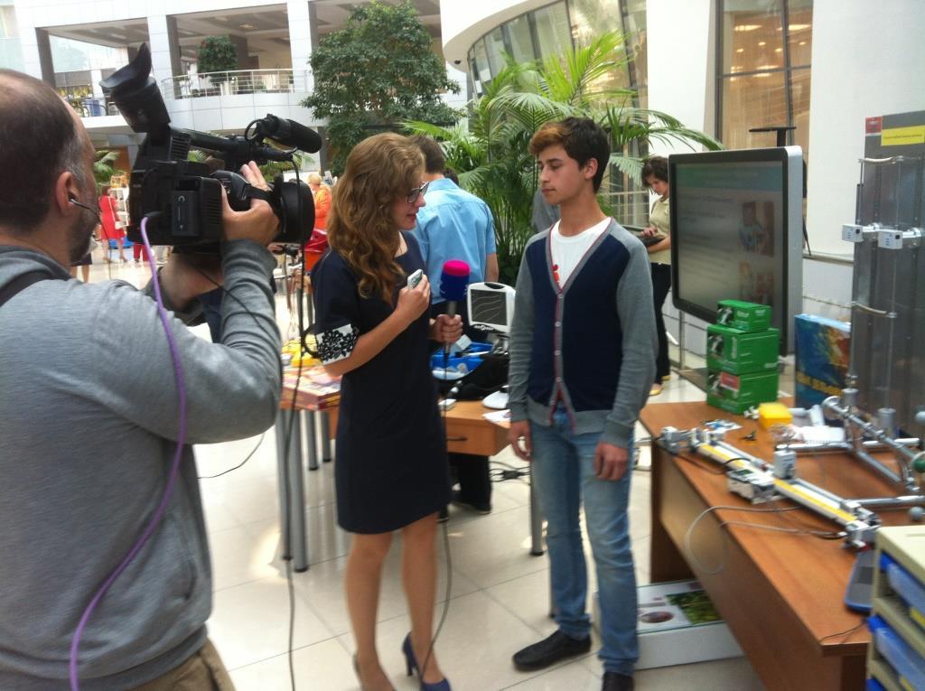 Никита Самойлов дает интервью телеканалу 360 Подмосковье