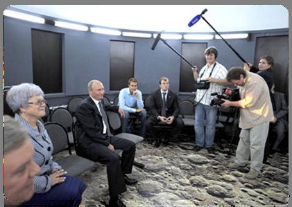 Президент России в школьном планетарии