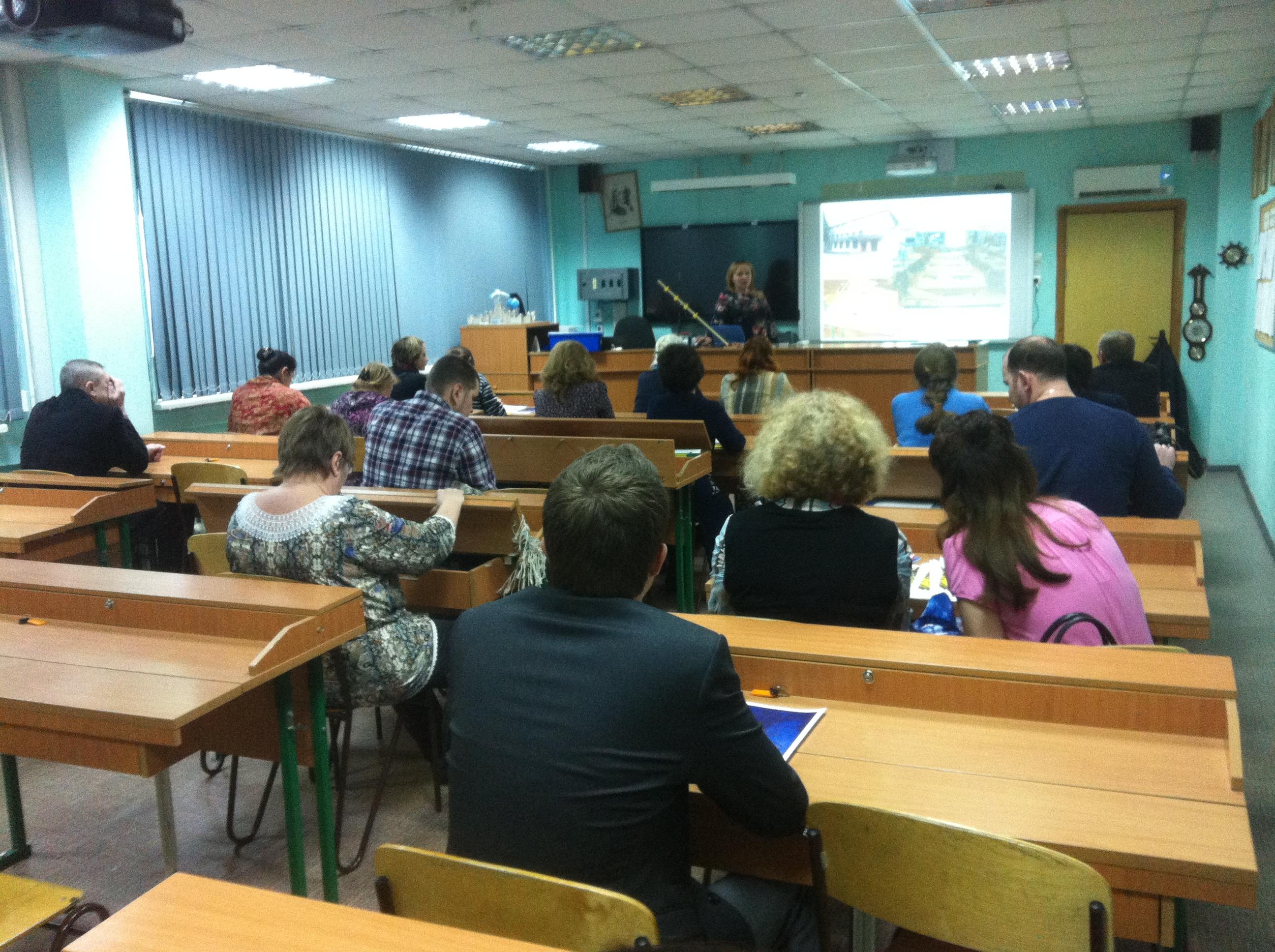 Мастер-класс по цифровым лабораториям ведет Н.В. Андреева
