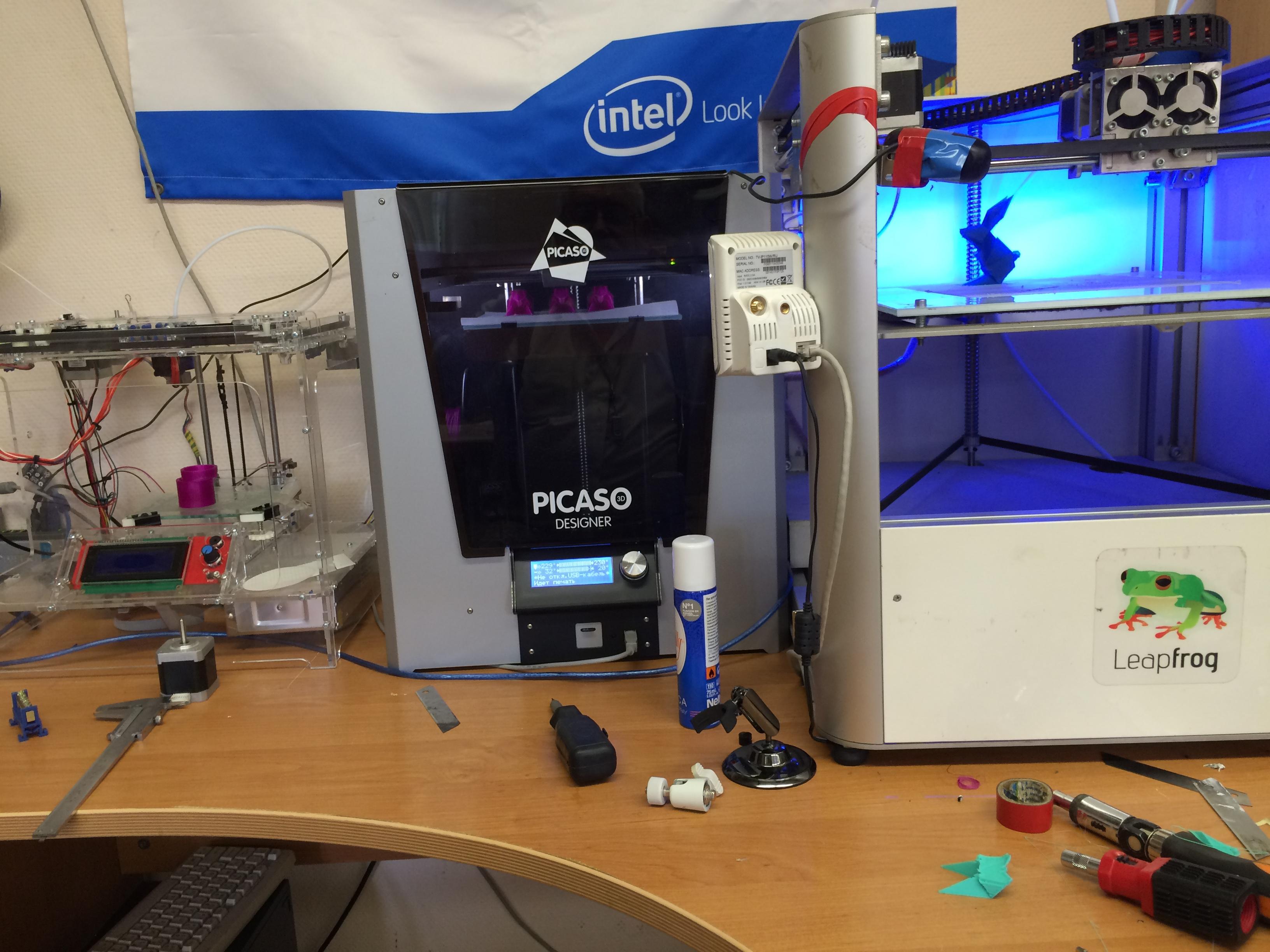 Восстановлены все 3d принтеры