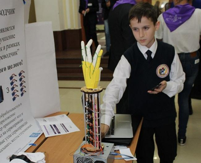 Робот сурдопереводчик - проект саранского лицея для одаренных детей
