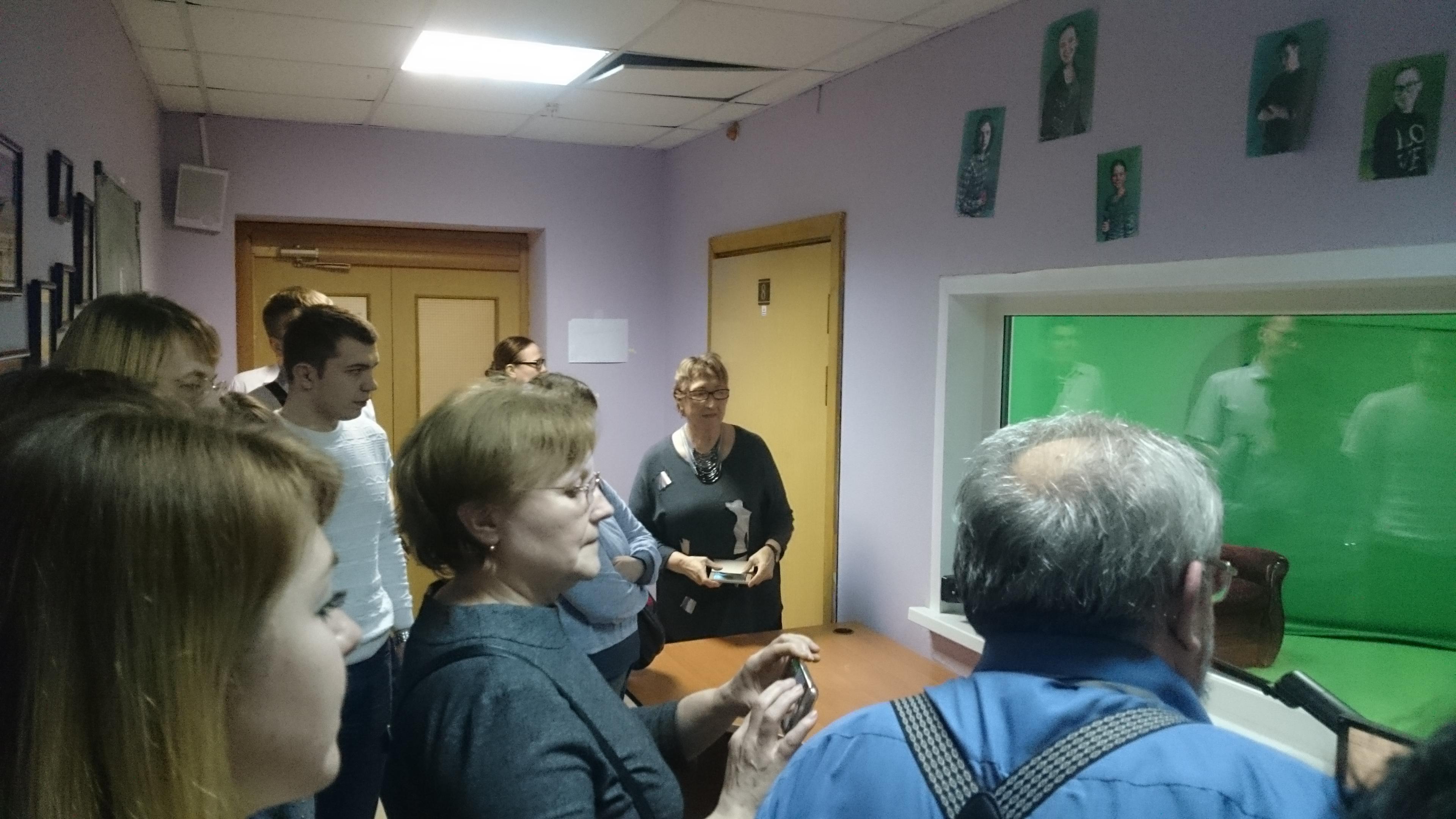 Посещение виртуальной телестудии