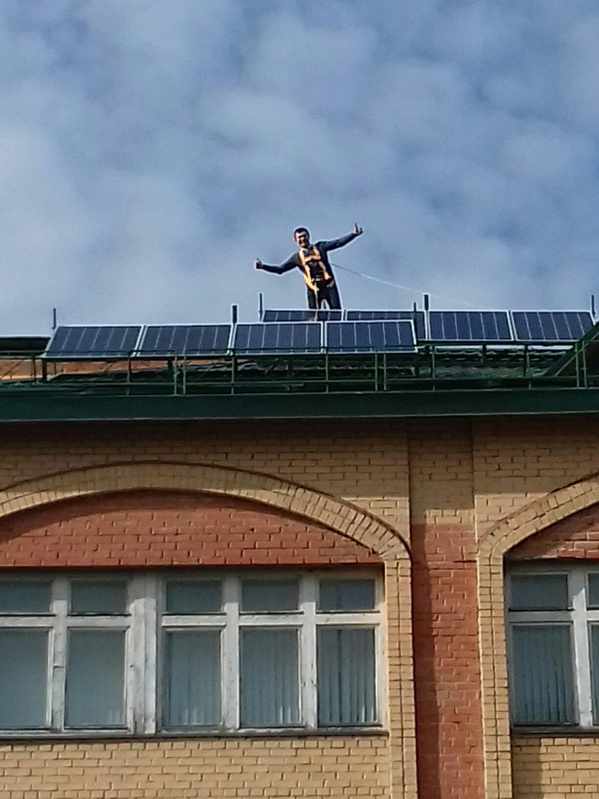 Кирилл Заведенский и солнечные батареи
