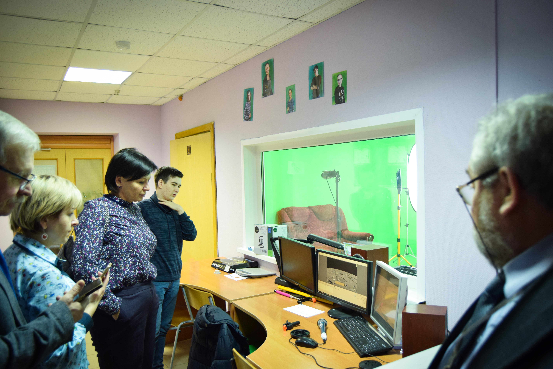 Посещение школьной телевизионной студии