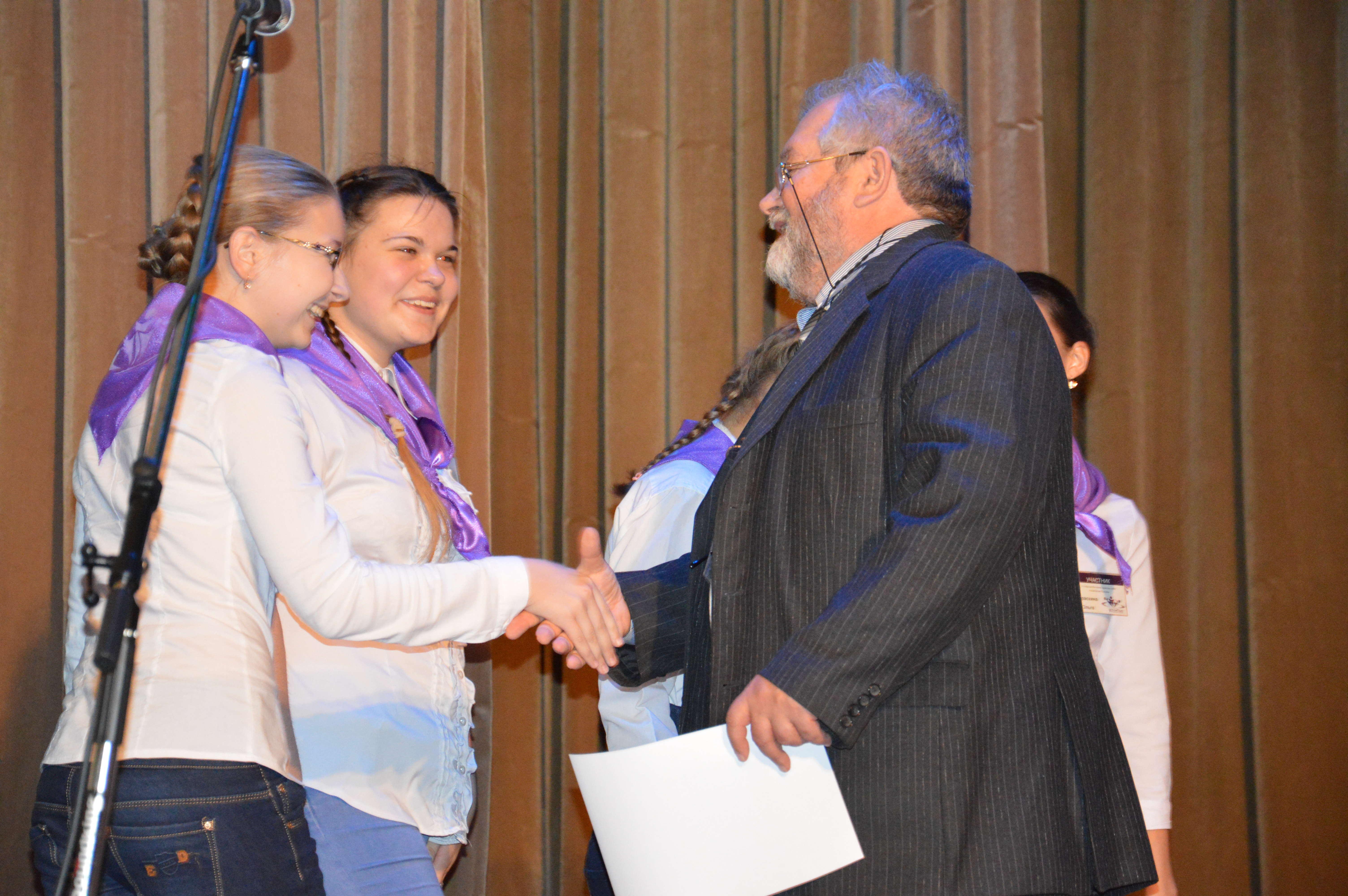 Награждение команды победителей фестиваля