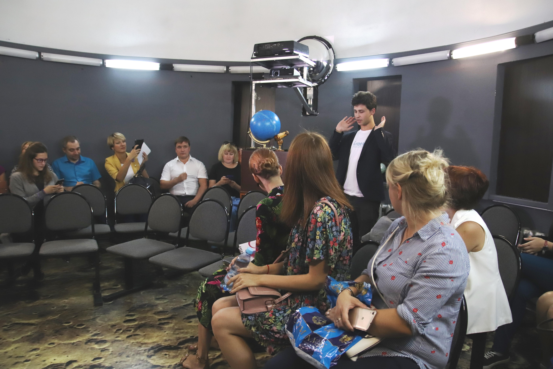 27 августа в школьном планетарии работает Никита Самойлов