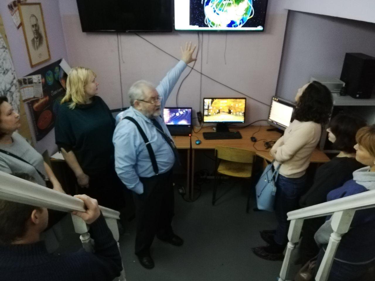 В школьном центре космического мониторинга