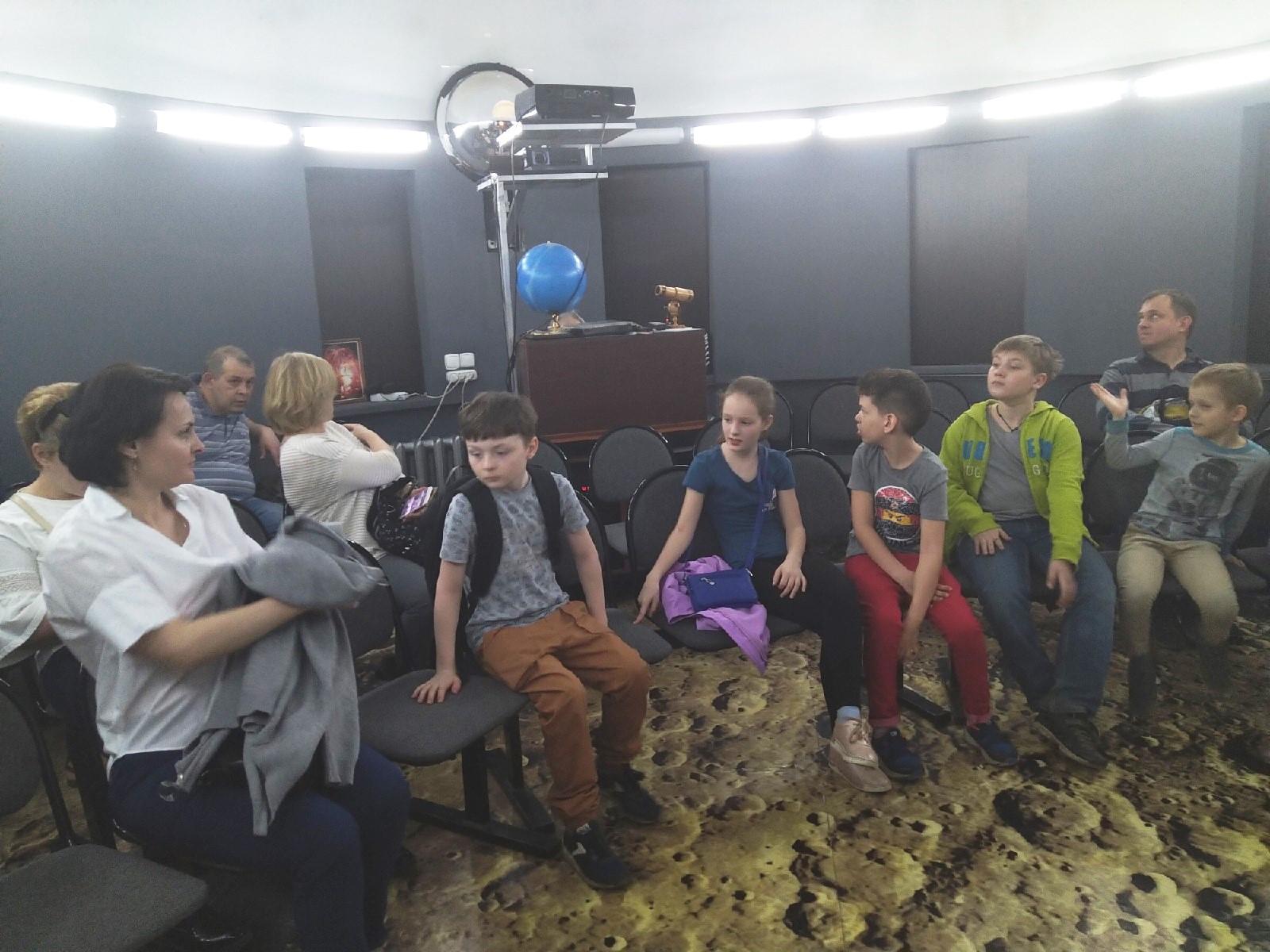 Лекция в школьном планетарии