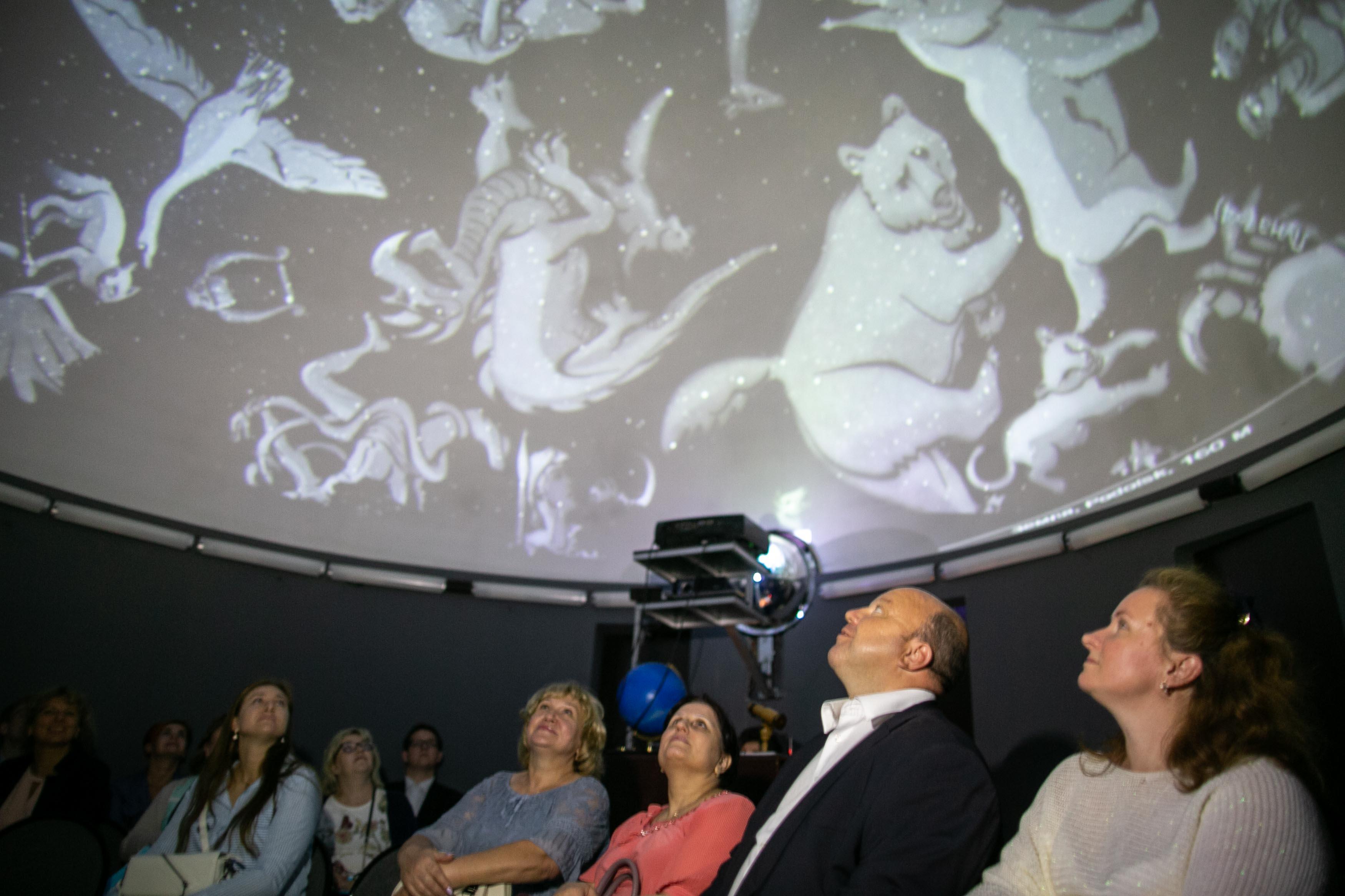 Знакомство со школьным планетарием