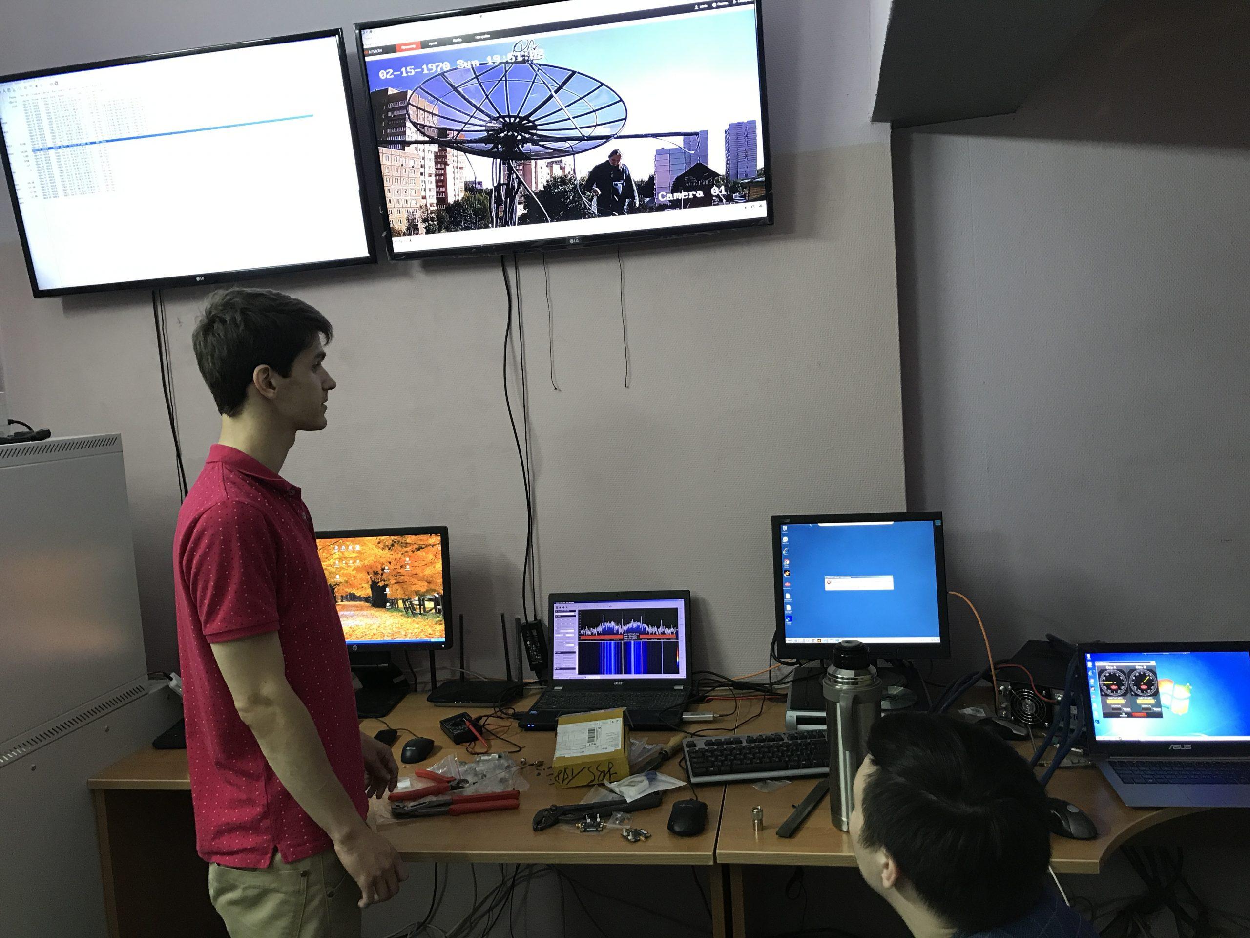 Управление антенным комплексом из ЦУПа